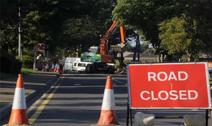 """Woods Lane, Melton (A1152) roadworks Update"""