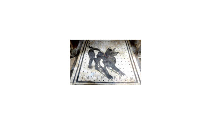 Bawdsey volunteers visit original site of the dog mosaic in Pompeii