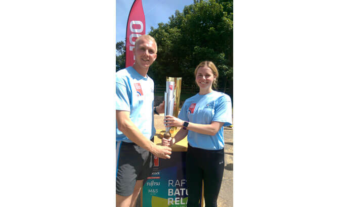 RAF100 Baton Relay arrives at Bawdsey